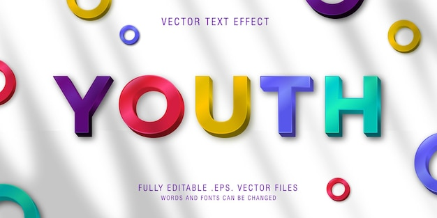 Youth text style effect