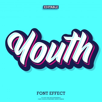 Youth and trendy bold script custom lettering font