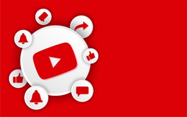 Youtube banner template for social media