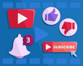 YouTubeボタンベクトル