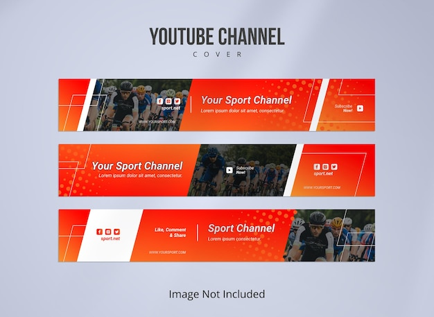 Обложка канала youtube для спорта