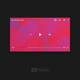 Youtube landscape template for mobile device
