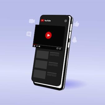 Шаблон прямой трансляции youtube на мобильном устройстве