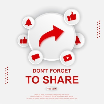 Youtube share button illustration
