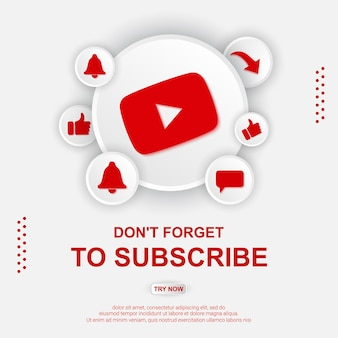 Youtube subscribe button illustration
