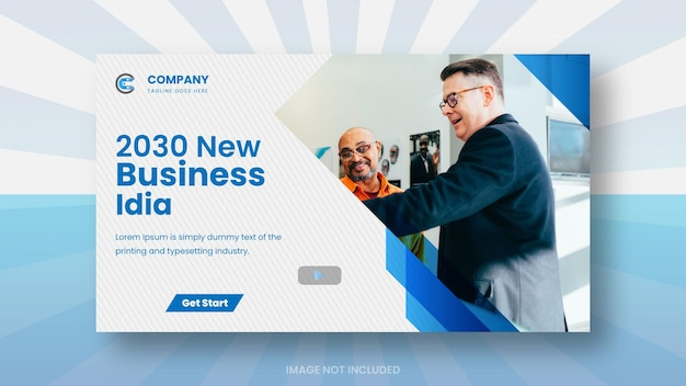 Youtube video thumbnail for  business media  promotion and web banner