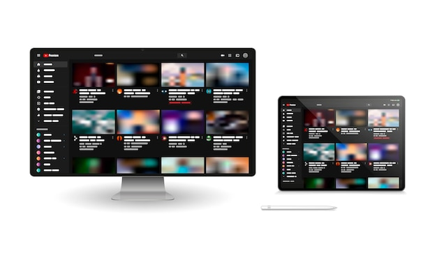 Youtube windows for different devices.