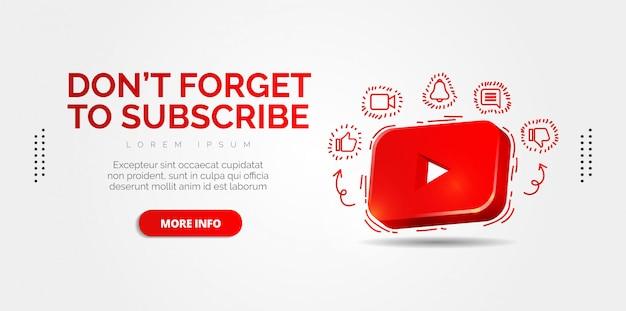 Социальные медиа youtube с красочными дизайнами.