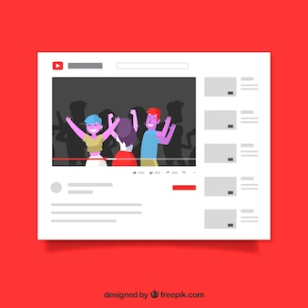 Youtube плеер с плоским дизайном