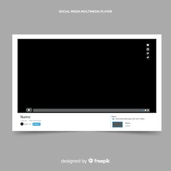Youtubeのビデオプレーヤーテンプレートベクトル化