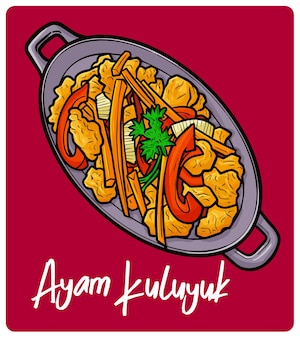 Yummy ayam kuluyuk a traditional chicken meal from indonesia