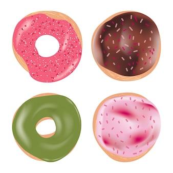 다양한 토핑으로 맛있는 맛있는 도넛