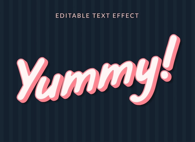 Yummy editable text effect premium