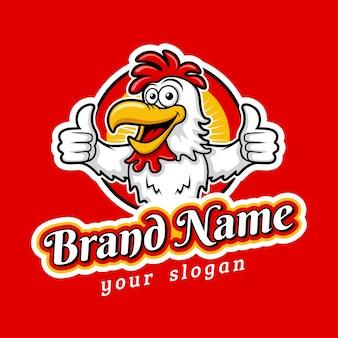 Yummy fried chicken emblem logo template