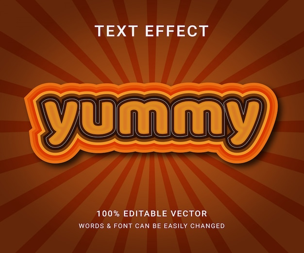 Yummy full editable text effect