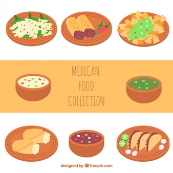 Yummy mexican food collection