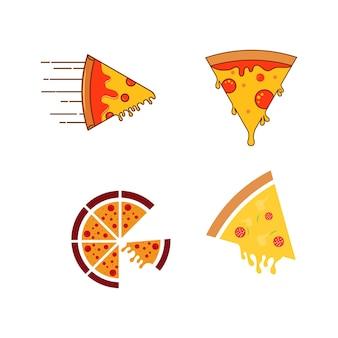 맛있는 피자 벡터 아이콘 디자인 일러스트 템플릿