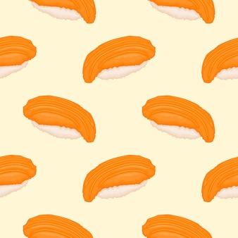 Вкусный лосось суши шаблон
