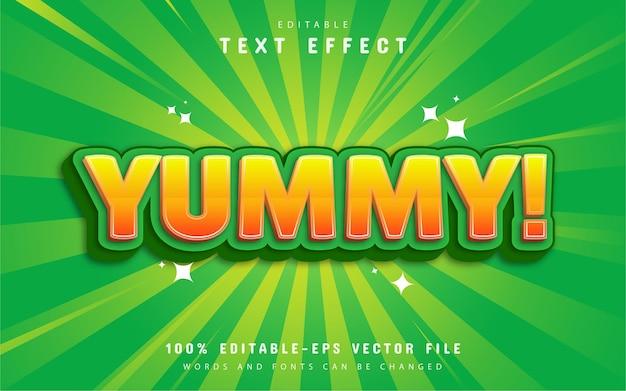 Yummy text effect cartoon style