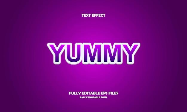 Yummy text effect