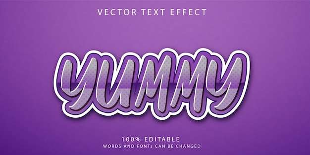 Yummy text effects style template