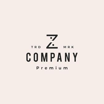 Z letter people team family hipster vintage logo vector icon illustration