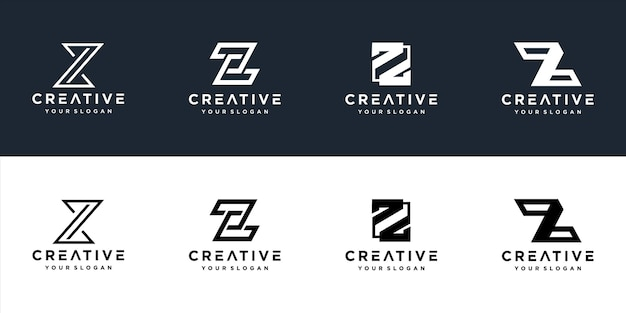 Z logo design template initials