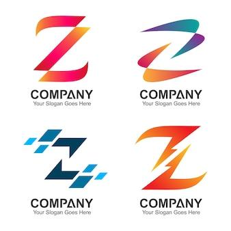 Набор букв z дизайн логотипа