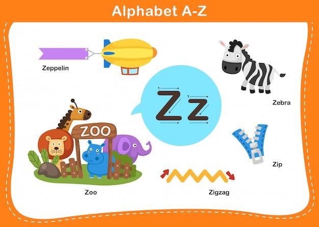 Алфавит буква z иллюстрации