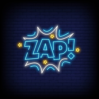 Zap neon signs text style
