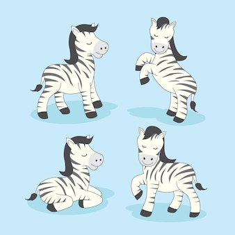 Zebra cartoon cute animals