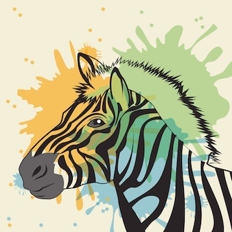 Zebra icon. Animal and art