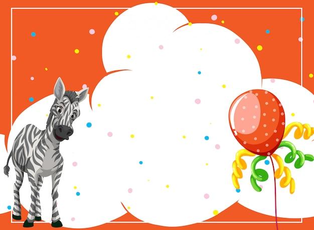 A zebra on party background