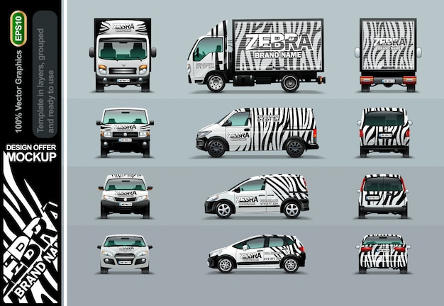Zebra pattern. layout offers for your business.