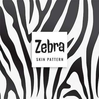Zebra print pattern in black and white