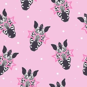 Zebra seamless pattern, kid safari print