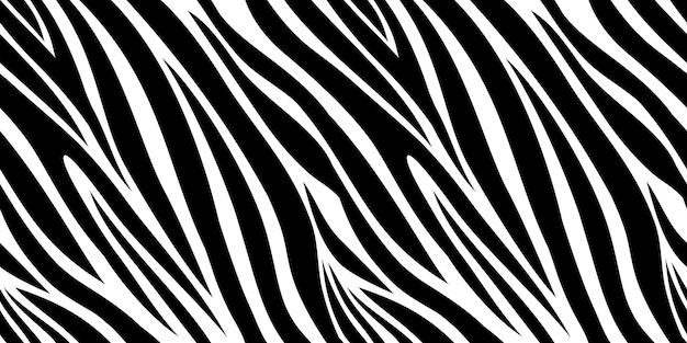 ゼブラスキンパターン。アニマルプリント、黒と白のストライプの背景