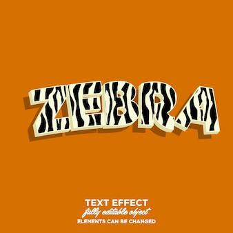 Zebra skin text style