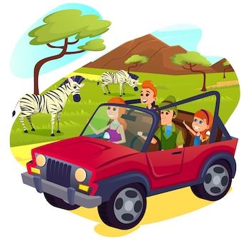 美しい緑のフィールドで放牧シマウマの群れ。