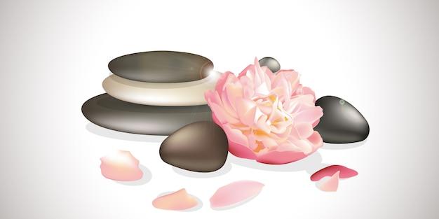 Zen flower illustration