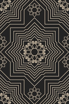 Zentangle in stile illustrazione geometrica