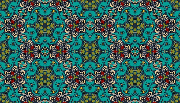Zentangle styled geometric ornament pattern background
