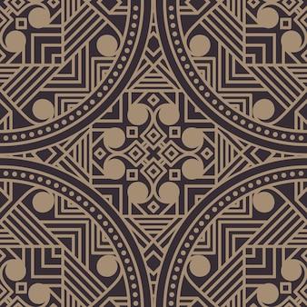 Zentangleスタイルの幾何学的な図