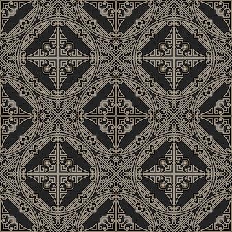 Zentangleスタイルの幾何学的な装飾パターン