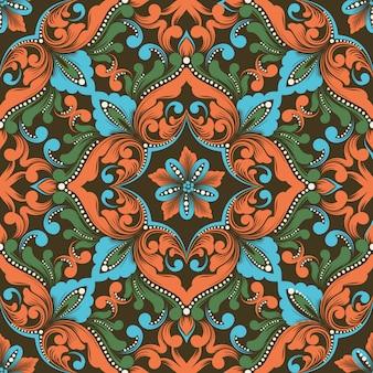Zentangleシームレスパターン要素。