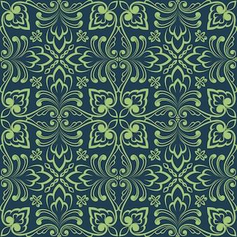 Zentangleスタイルの幾何学的な装飾パターン要素。