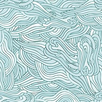 手描きzentangleシームレスパターン。