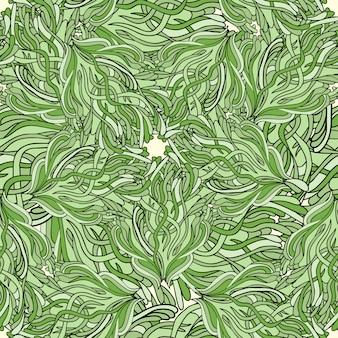 手描き壁紙、パターンの塗りつぶし、繊維のzentangleシームレスパターン。