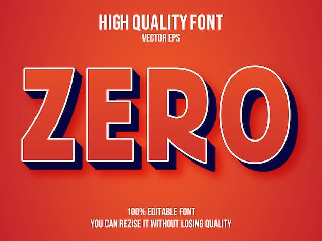 Zero editable text effect