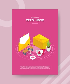 Zero inbox concept women use laptop sit on bench